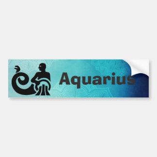(占星術の)十二宮図の占星術の占星術の印のアクエリアスのバンパー バンパーステッカー