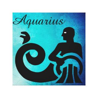 (占星術の)十二宮図の占星術の占星術の印のアクエリアスの壁の芸術 キャンバスプリント