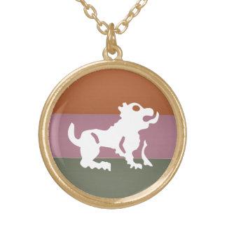 (占星術の)十二宮図の占星術の記号: BirthStar Goodluckのチャーム ゴールドプレートネックレス