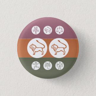 (占星術の)十二宮図の占星術の記号: BirthStar Goodluckのチャーム 缶バッジ