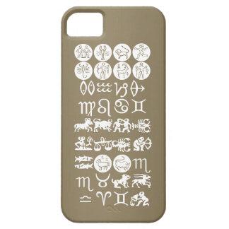 (占星術の)十二宮図の占星術の記号: BirthStar Goodluckのチャーム iPhone SE/5/5s ケース