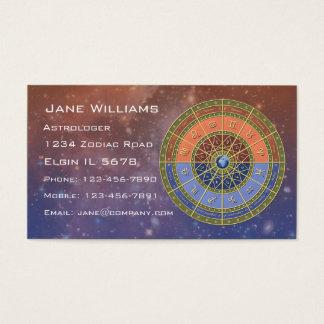 (占星術の)十二宮図の占星術 名刺
