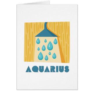 (占星術の)十二宮図の印のアクエリアス カード