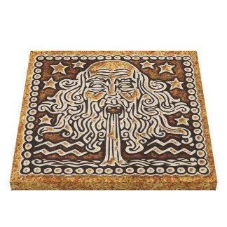 (占星術の)十二宮図の印のアクエリアス キャンバスプリント