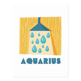 (占星術の)十二宮図の印のアクエリアス ポストカード