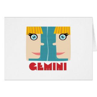 (占星術の)十二宮図の印のジェミニ カード