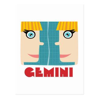 (占星術の)十二宮図の印のジェミニ ポストカード