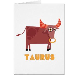 (占星術の)十二宮図の印のトーラス カード