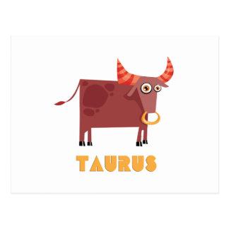 (占星術の)十二宮図の印のトーラス ポストカード