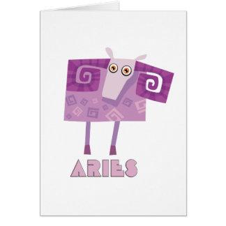 (占星術の)十二宮図の印の牡羊座 カード