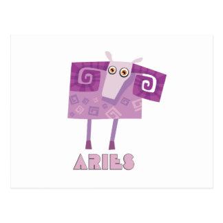 (占星術の)十二宮図の印の牡羊座 ポストカード