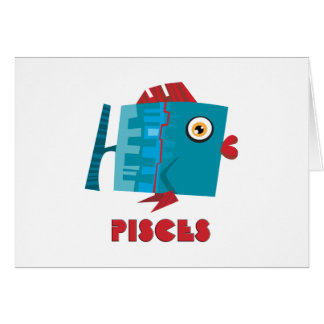 (占星術の)十二宮図の印魚類 カード