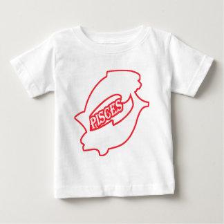 (占星術の)十二宮図の印魚類 ベビーTシャツ