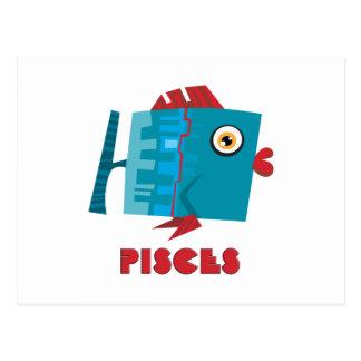(占星術の)十二宮図の印魚類 ポストカード