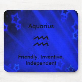 (占星術の)十二宮図の印: アクエリアス マウスパッド