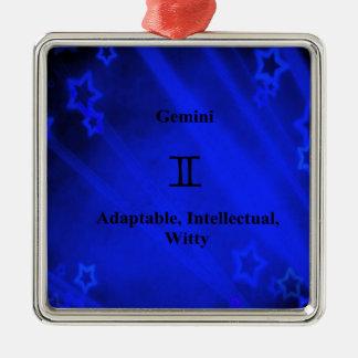 (占星術の)十二宮図の印: ジェミニ メタルオーナメント