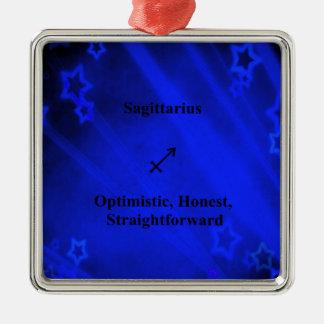 (占星術の)十二宮図の印: 射手座 メタルオーナメント
