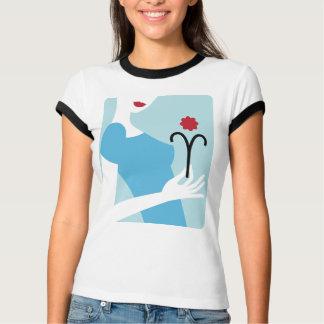 (占星術の)十二宮図の女性Tシャツ-牡羊座 シャツ