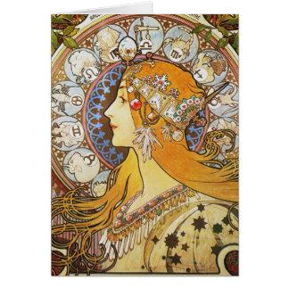 (占星術の)十二宮図の女神 カード
