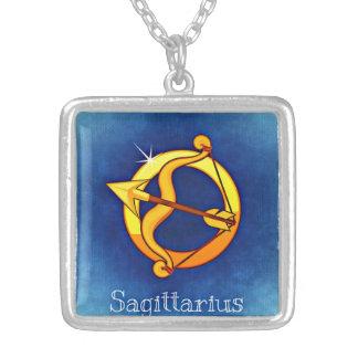 (占星術の)十二宮図の射手座のネックレス シルバープレートネックレス