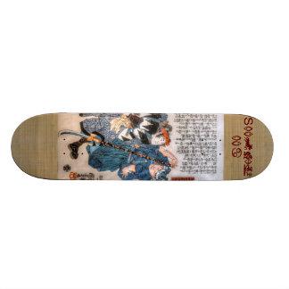 (占星術の)十二宮図の武士 18.1CM オールドスクールスケートボードデッキ