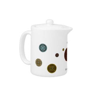 (占星術の)十二宮図の茶ポット