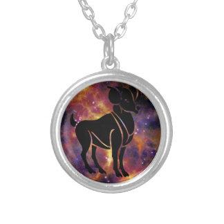 (占星術の)十二宮図のCapriornのネックレス シルバープレートネックレス