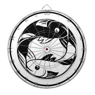 (占星術の)十二宮図は魚類の魚アイコンに署名します ダーツボード