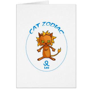 (占星術の)十二宮図猫レオ カード