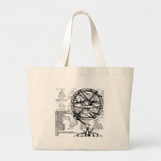(占星術の)十二宮図 ラージトートバッグ