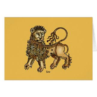 (占星術の)十二宮図: レオ1482年 カード