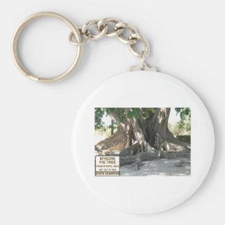 印が付いているマイソールのイチジクの木 キーホルダー
