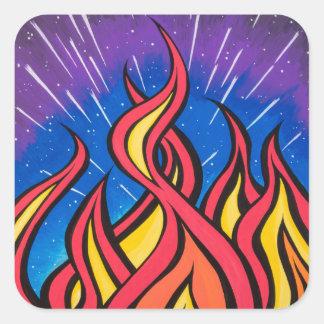 印のやかましさによるスターフィールドの燃焼 スクエアシール