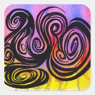 印のやかましさ2014年10月29日による色の渦巻 スクエアシール