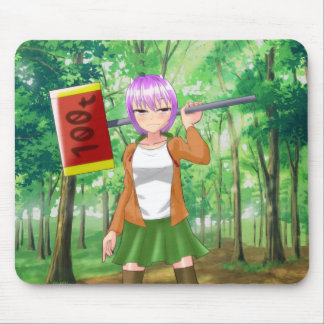 印のマウスパッドの日本製アニメの女の子 マウスパッド