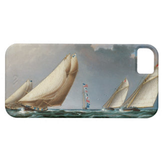 印を円形にするヨット iPhone SE/5/5s ケース