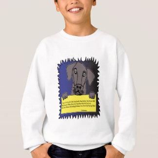 印を握っている飼い犬 スウェットシャツ