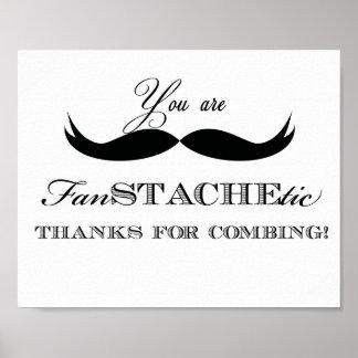 印を来るための髭の感謝 ポスター