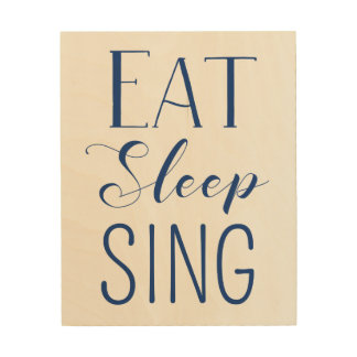 印を食べて下さい、眠らせて下さい、歌って下さい ウッドウォールアート