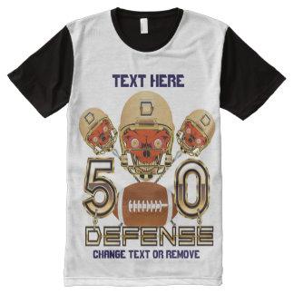 印刷されたパネルTをくまなくフットボールの人のXXL オールオーバープリントT シャツ