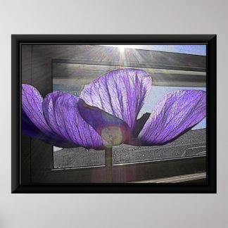 印刷されたフレームが付いているモナ・リザの花ポスター ポスター