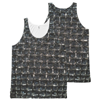印刷されたユニセックスをくまなく騎士ワイシャツ オールオーバープリントタンクトップ