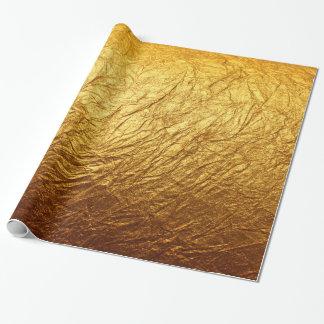 印刷された模造のな金ゴールドホイルのモダンな結婚披露宴 ラッピングペーパー