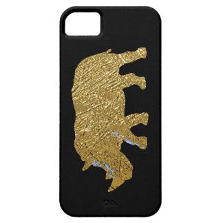 印刷された金ゴールド色のサイ iPhone SE/5/5s ケース