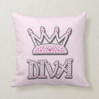 印刷されるかわいいピンクは花型女性歌手のプリンセスの王冠を真珠で飾ります クッション