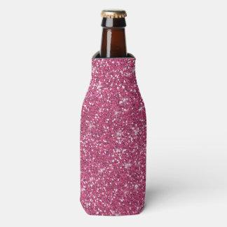 印刷されるショッキングピンクのグリッター ボトルクーラー