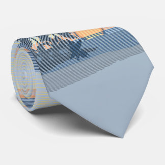 印刷される大きい日没のハワイ諸島の両面 オリジナルネクタイ