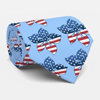 印刷される幸せなハイビスカス米国の両面 ネクタイ