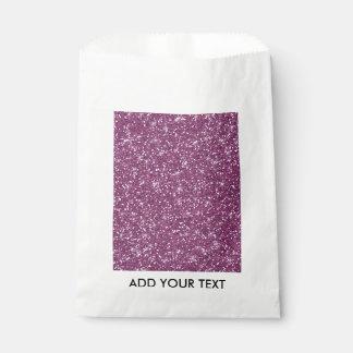 印刷される紫色のグリッター フェイバーバッグ