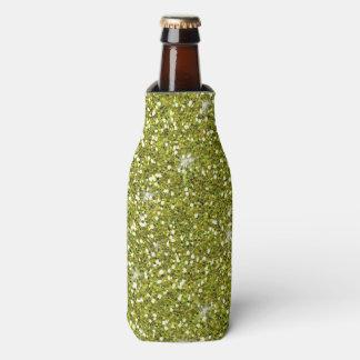 印刷される緑のグリッター ボトルクーラー